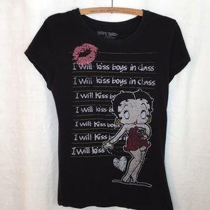 Betty Boop Black & Pink Tee-Shirt D-25